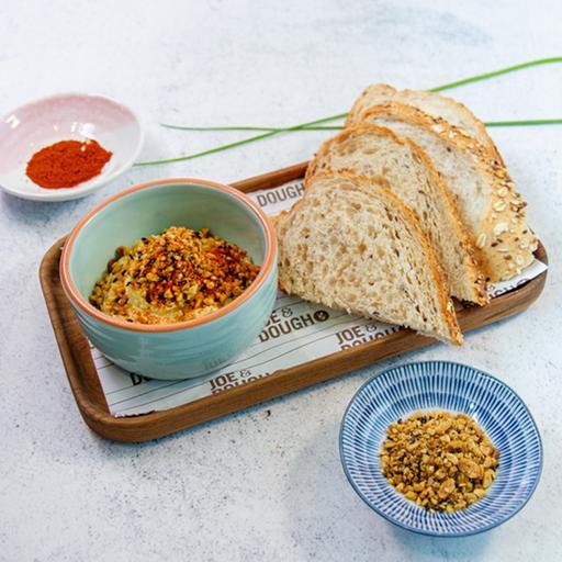 Paprika Hummus With Dukkah and Toast