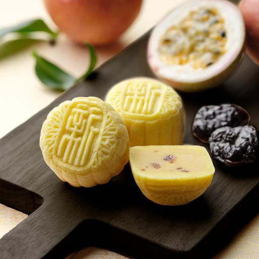 Passion Fruit Paste with Plum Mini Snowskin