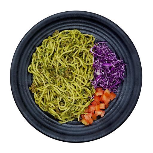 Pesto Minced Beef Spaghetti