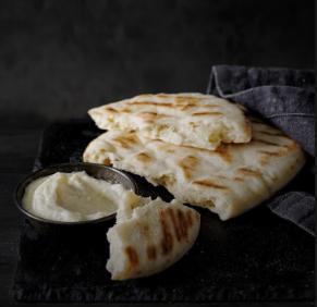Pita Bread with Authentic Garlic Sauce