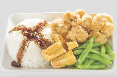 Popcorn Chicken Bento (盐酥鸡便當)