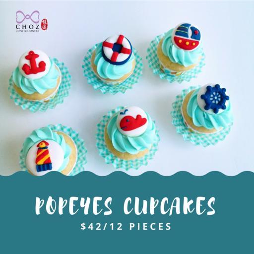 Popeye Cupcakes (12pcs)