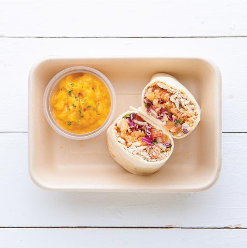 Roast Chicken & Mexican Rice Wrap