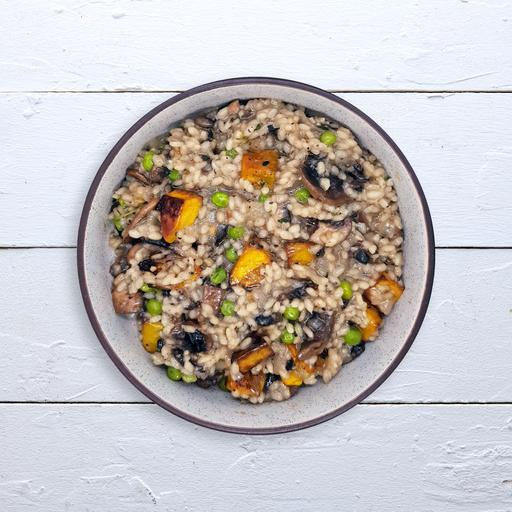 Chicken, Pumpkin, Mushroom & Pea Risotto