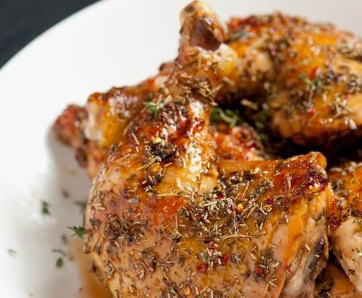 Roasted Honey Glazed Lavender Chicken with Seasonal Greens and Brown Rice (16-Nov)
