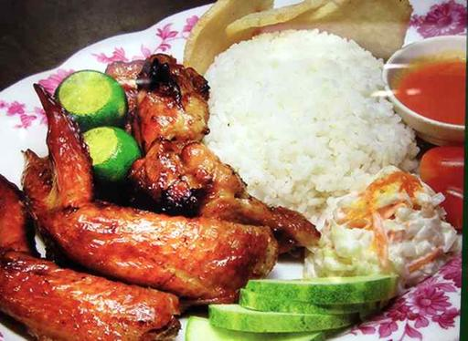 S18-3 pcs Chicken Wing with White Rice