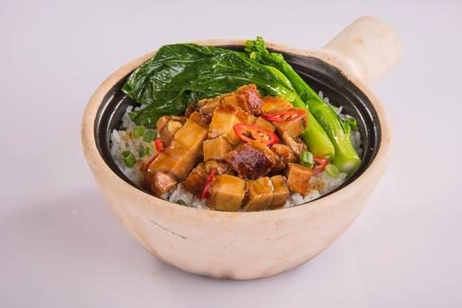 S19-Pork Meat Clay Pot Rice