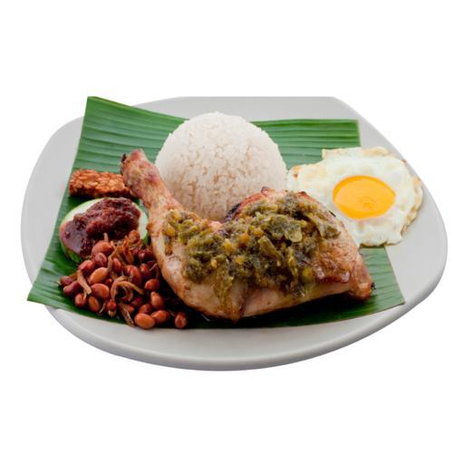 S33 - Ayam Cabe Ijo w Freshly Fried Eggs