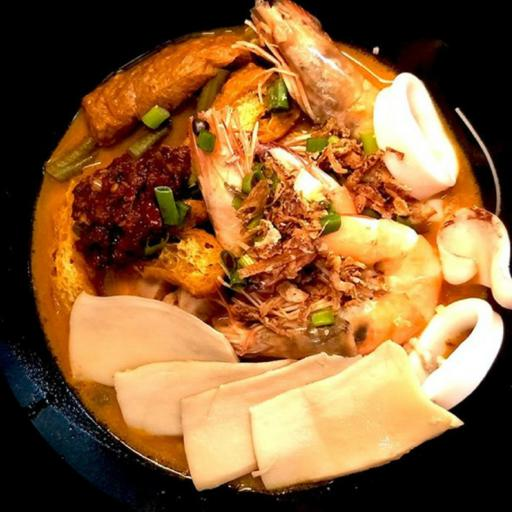 S36 - Curry Seafood Abalone Noodles