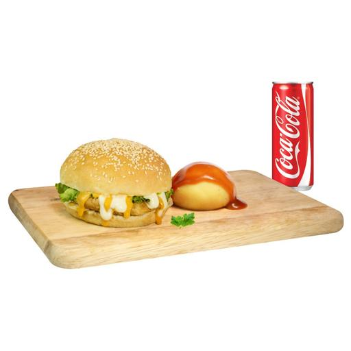SM5: Single Cheesy Burger Set Meal