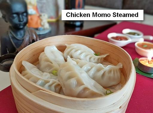Steamed Chicken Momos Plate - 5 Pcs