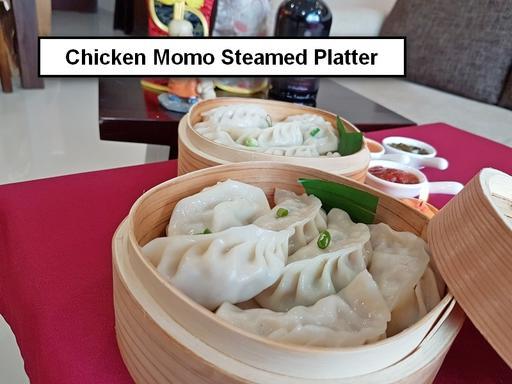 Steamed Chicken Momos Platter - 12 Pcs