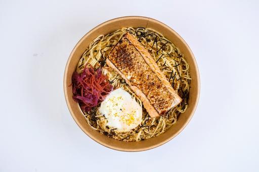 Salmon Cha Soba