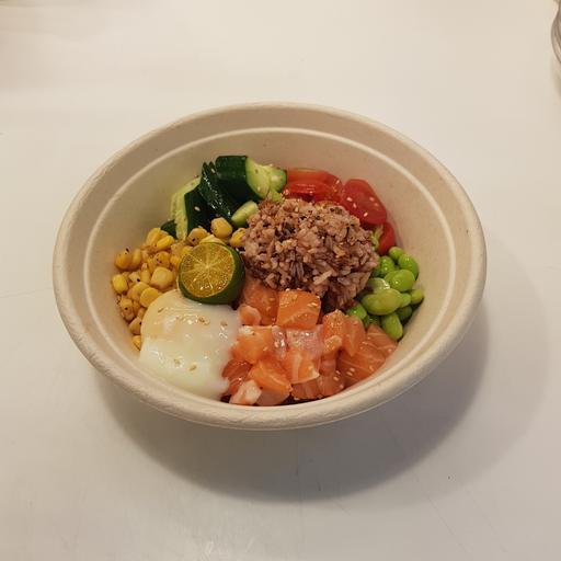 Salmon Red Rice Poke