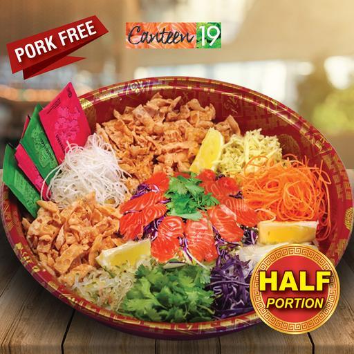 Salmon Sashimi Yee Sang (Half Portion)