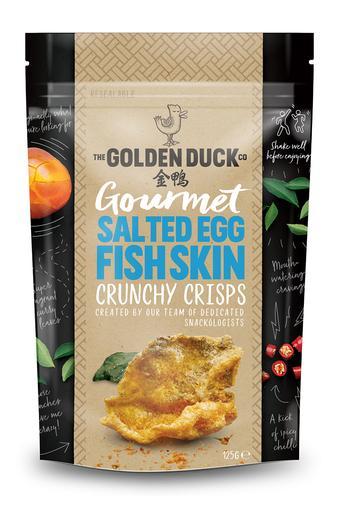 Salted Egg Fish Skin Crunchy Crisps