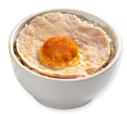 Salted Egg Pork Belly Rice 咸蛋肉饼盅仔饭