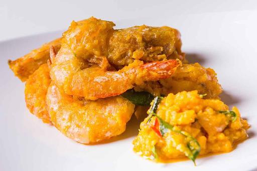 Salted Egg Prawns咸蛋虾