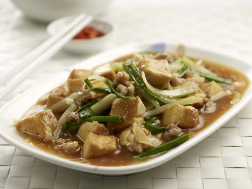 Salted Fish with Beancurd and Ground Meat (鱼香豆腐)