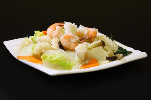 Sautéed Mixed Vegetable with Seafood