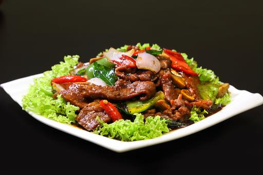 Sauteed Beef with Black Pepper Sauce