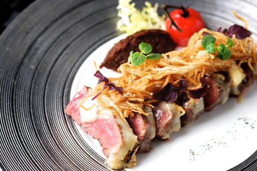 Seared Beef Sirloin with Melted Truffle Brie