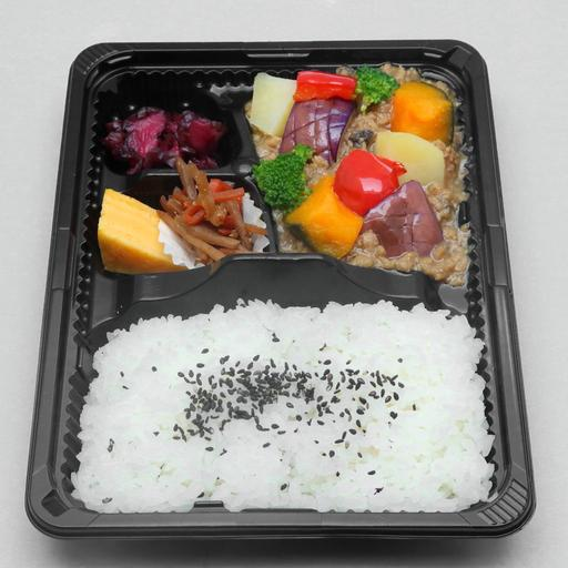 Seasonal Vegetable and Minced Chicken Bento