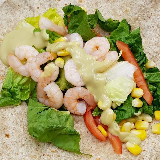 Shrimp Avocado Burrito