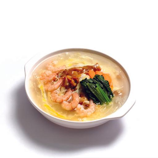 Shrimp Hor Fun In Creamy Egg Sauce 滑蛋虾仁炒河粉