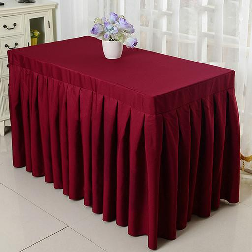Square Table with Table Cloth Skirting (3ft by 3ft)