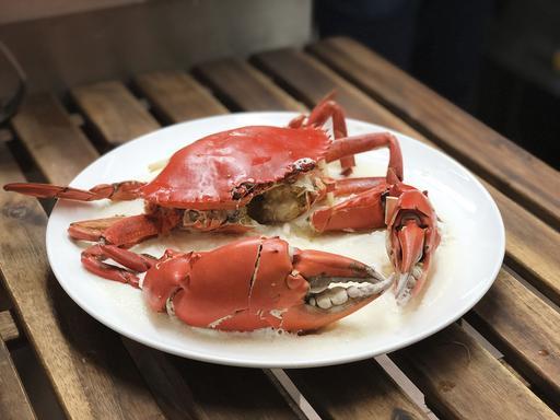 Steamed Crab w Egg White