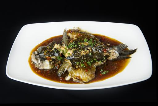 Steamed Fish with Chef's Special Sauce 酱蒸笋壳鱼