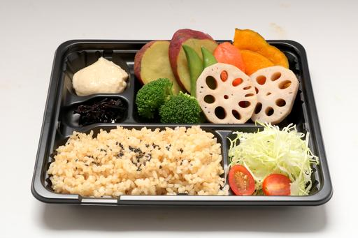 Steamed Vegetable Bento (vegetarian)