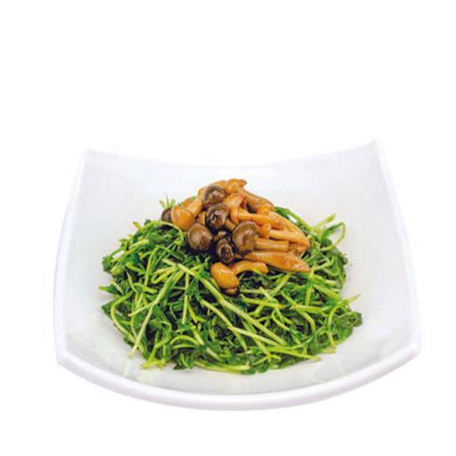 Stir Fried Dou Miao w/Mushrooms 双菇扒豆苗
