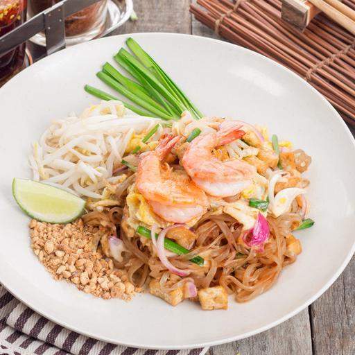 Stir Fried Pad Thai with Prawns
