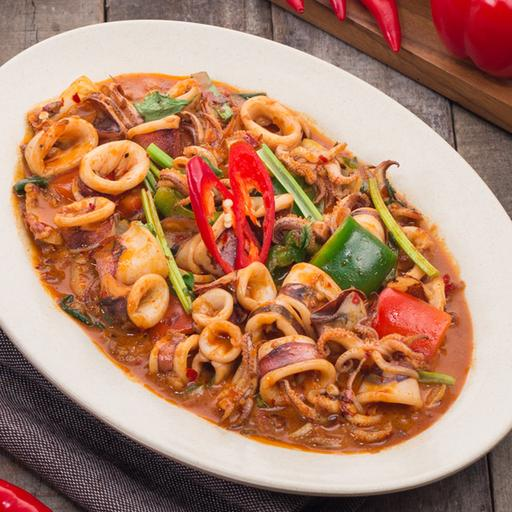 Stir Fried Squid with Chili Paste