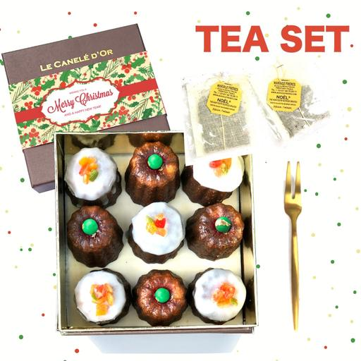 TEA SET Christmas Canele Medium Size - 9 pieces