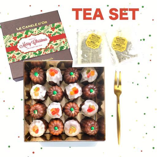 TEA SET Christmas Caneles Cocktail Size - 16 pieces