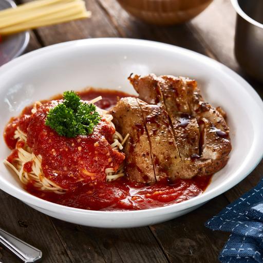 Teriyaki Chicken with Tomato Pasta