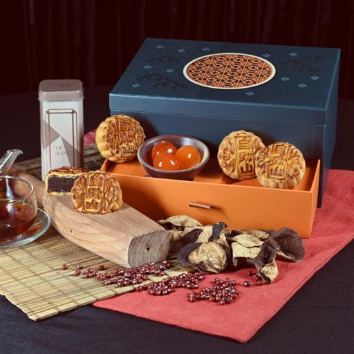 [LIMITED EDITION] The Grand Mooncake Duo with Aged Pu'Er Tea Gift Box (8pcs) - VOUCHER