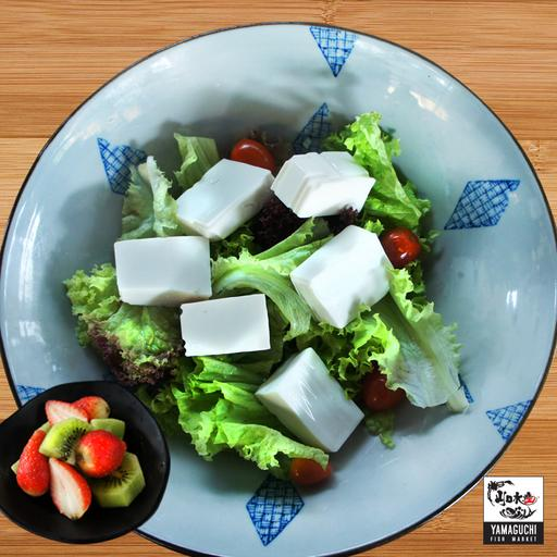 Tofu Salad with Seasonal Mixed Fruits