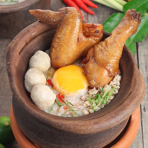 Tom Yum Porridge with Chicken