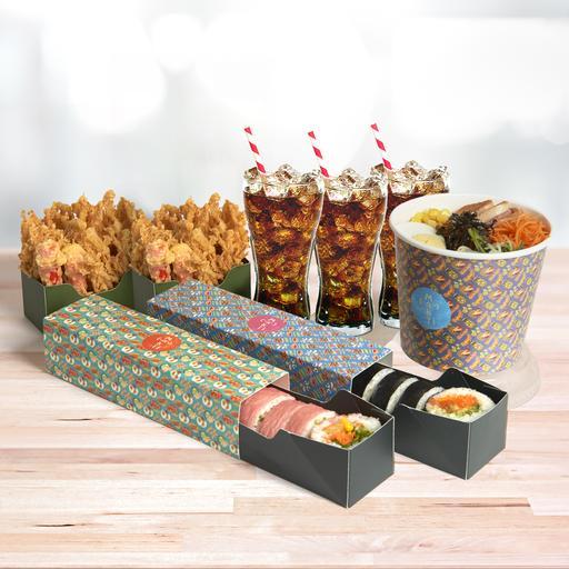 Triple Treats: House Maki & Salad Meal