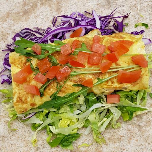 Tuna Omelet Burrito