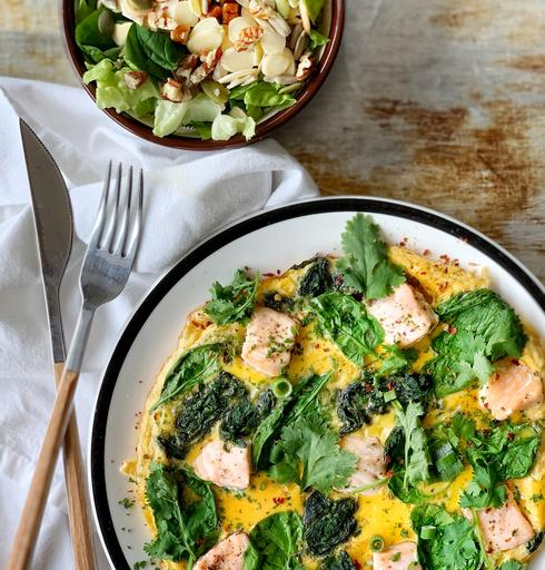 Wednesday: Keto Salmon Spinach Omelette