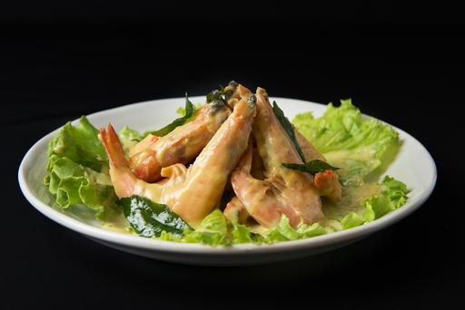 Wok-fried Prawns with Fragrant butter 奶皇虾