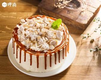 焦糖烤杏仁戚風蛋糕