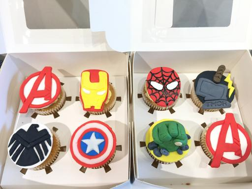 復仇者聯盟杯子蛋糕