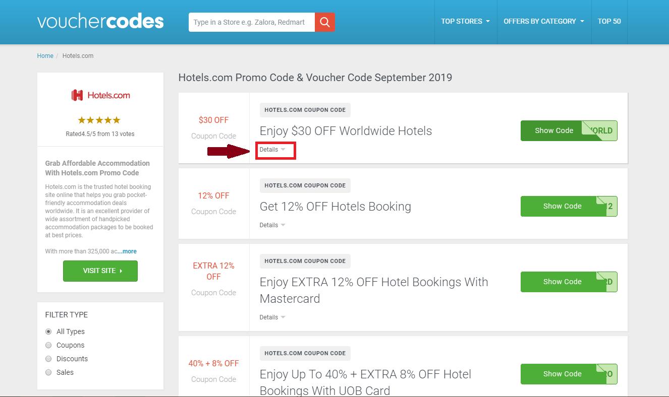 Hotels.com Promo Code | 78% OFF | Singapore | October 2019