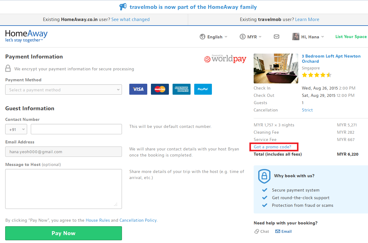 How to use a HomeAway coupon